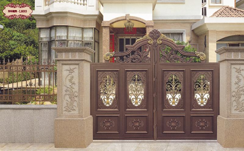铝艺庭院门,铝艺别墅门,铝艺庭院门厂家,铝艺门厂家,铝艺大门